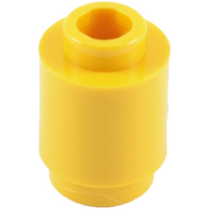 BRAND NEW #3062B-TRANS YELLOW-ROUND BRICK 1 X 1 OPEN STUD-50 PIECES LEGO