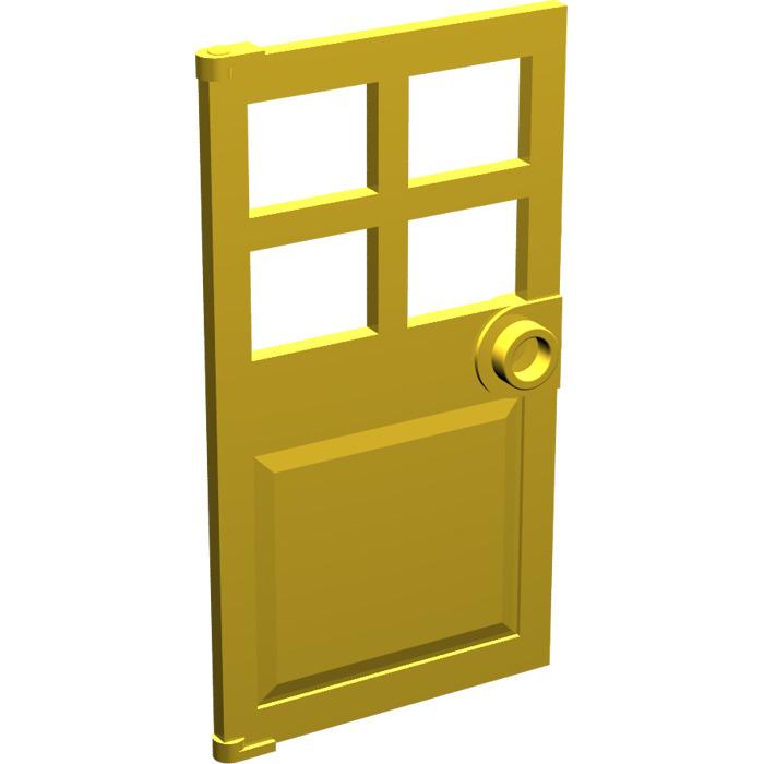 4 NEW LEGO Door 1 x 4 x 6 Barred Stud Hle pdg