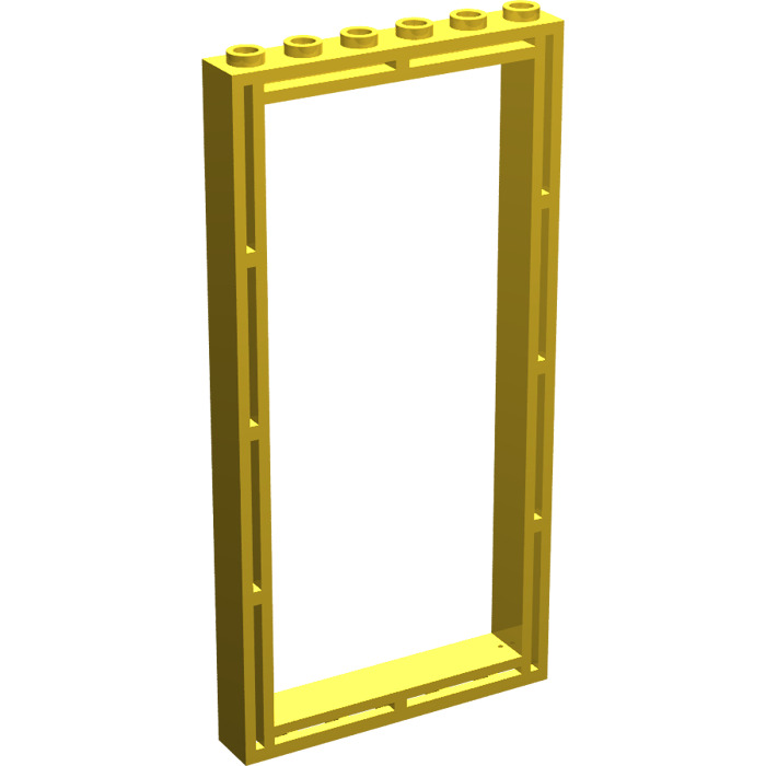 lego yellow door 1 x 6 x 10 frame
