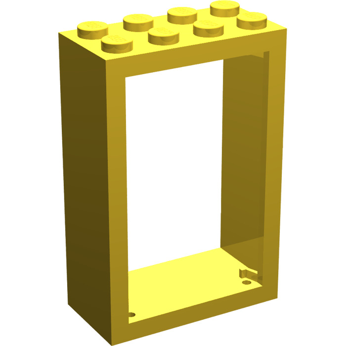 LEGO Yellow Door 2 x 4 x 5 Frame (4130) | Brick Owl - LEGO Marketplace