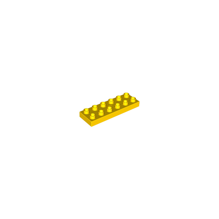 Lego 10 Yellow 2x6 base plate NEW