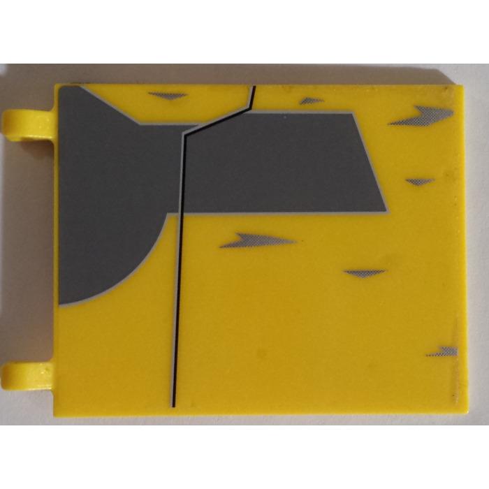 LEGO Yellow 4x6 Clip On Flag Piece