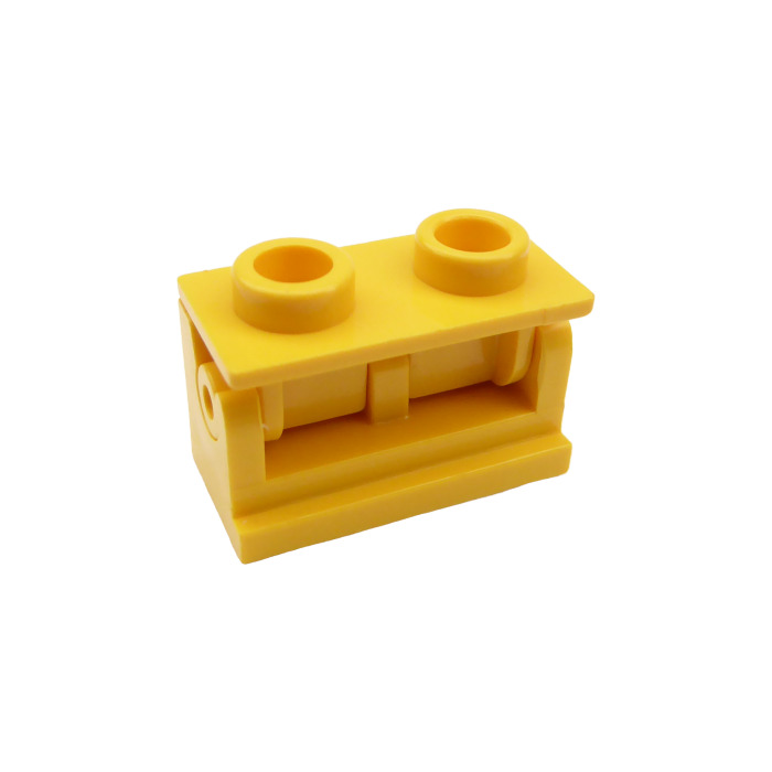 PART 3937c01 LEGO 1 x 2 GREEN HINGE BRICK x 4 COMPLETE ASSEMBLY