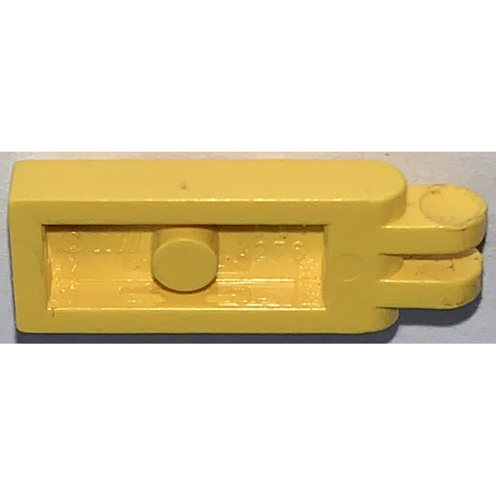 Lot of 1 Lego YELLOW HINGE PLATE 1 x 2 with 2 Fingers