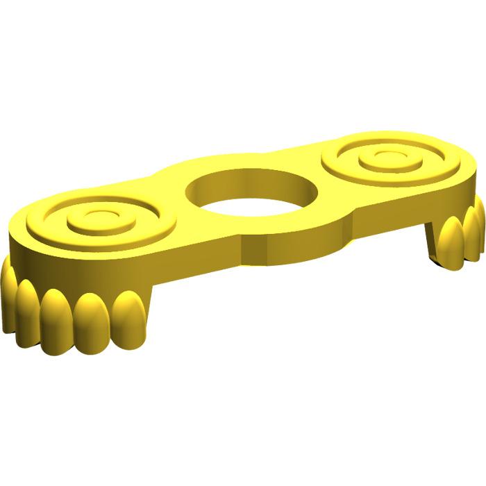 A011 2x Vintage Lego Yellow Minifig Epaulette P//N 2526