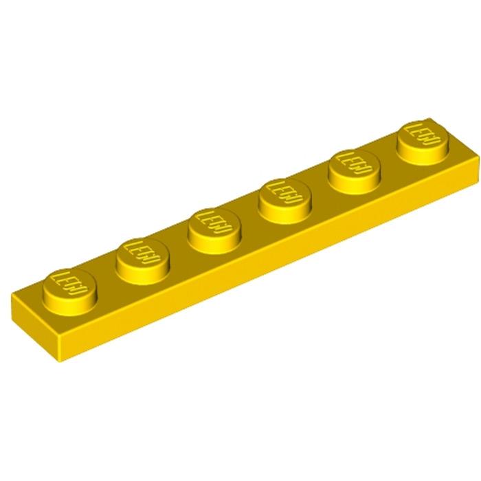 No 3666 Bright Light Yellow Plate 1 x 6 LEGO Parts QTY 5