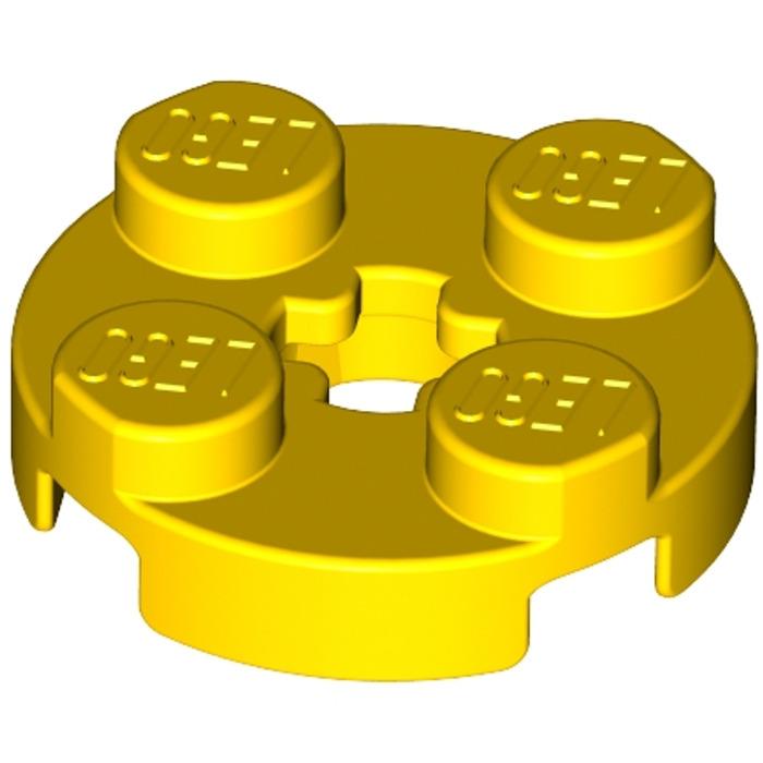 Yellow Lot of 7 LEGO  2x2 Round Circle Bricks