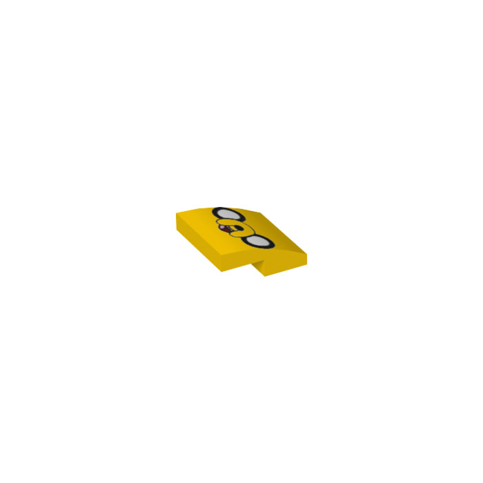 Lego yellow slope curved 2 x 2 x with decoration for Decoration 66