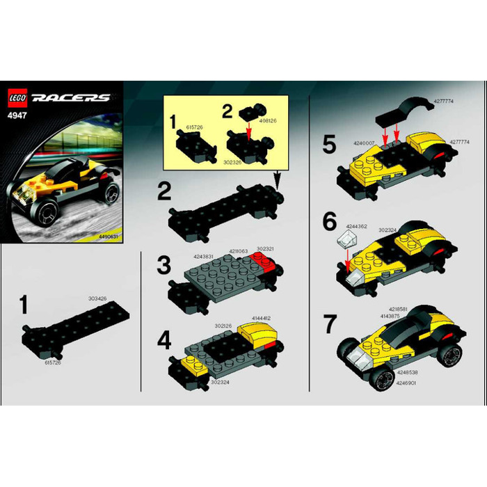 Lego Yellow Sports Car Instructions