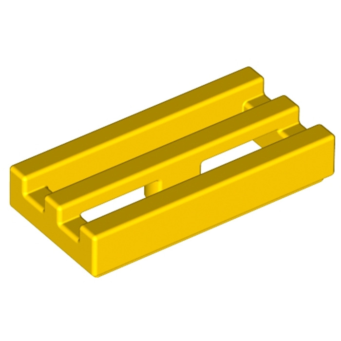 Modified 1 x 2 Grill with Bottom Groove 2412b Tile TM45 YELLOW x 20 LEGO