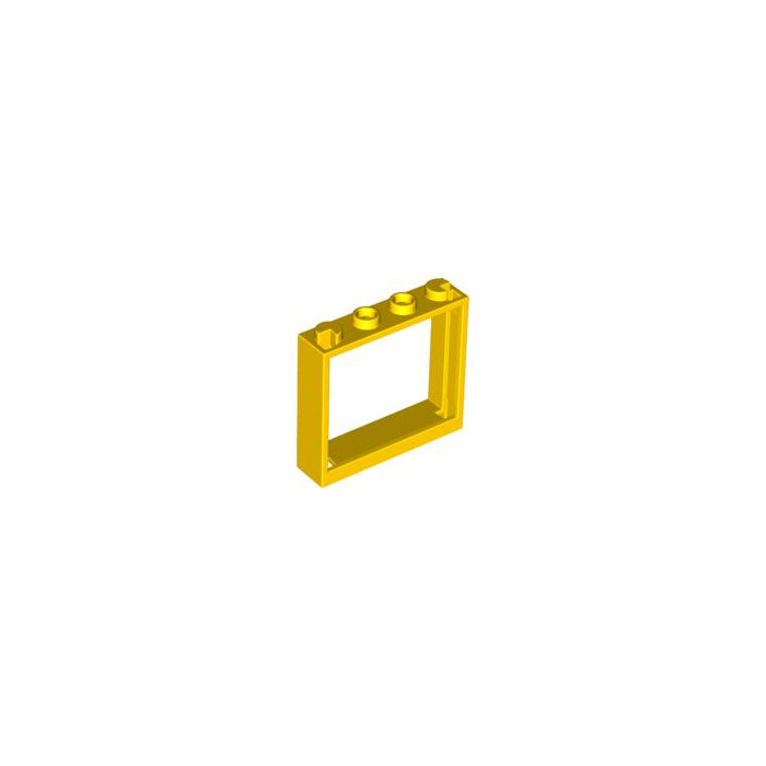 Lego yellow window 1 x 4 x 3 without shutter tabs 60594 for 1 x 3 window