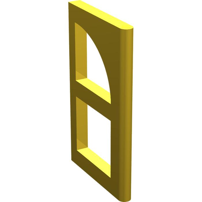 Lego yellow window pane for frame 2 x 6 x 6 6237 brick for 2 x 3 window