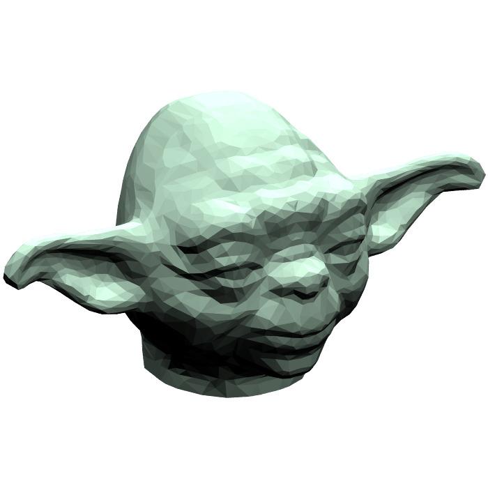 lego sand green yoda head 41880 - Lego Yoda
