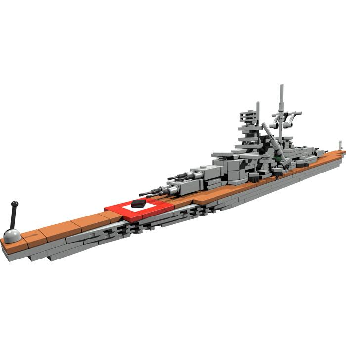 Ww2custombrickmodels Bismarck Battle Ship Micro Instructions Brick