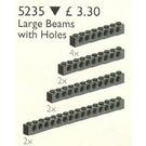 LEGO 10 Large Technic Beams Black Set 5235-1