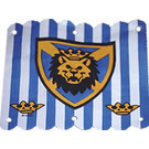 LEGO 16x16 Hanging Cloth With Blue Stripes and Crowns and Shield with Lion Head