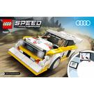 LEGO 1985 Audi Sport Quattro S1 Set 76897 Instructions