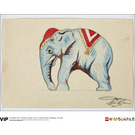 LEGO 1st Edition Elephant Water Colour Print, Circa 1937 (5005997)