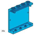 LEGO 1x3x4 Wall Element Transparent Blue Set 3447