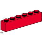 LEGO 1x6 Red Bricks Set 3477