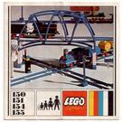 LEGO 2 Cross Rails, 8 Straight Tracks, 4 Base Plates Set 155 Instructions