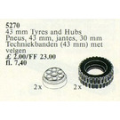 LEGO 2 Tyres and Hubs 43 mm Set 5270