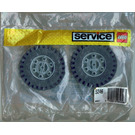 LEGO 2 Tyres and Hubs 81 mm Set 5246