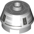 LEGO 2 X 2 Round Slope Brick with Knob and Gray Astromech Droid Pattern (14521 / 98100)
