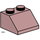 LEGO 2 x 2 Sand Red Roof Tile Set 10114
