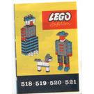 LEGO 2 x 4 Plates (Cardboard Box Version - Undertermined Color) Set 518-1 Instructions