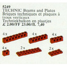 LEGO 20 Technic Beams and Plates Red Set 5249