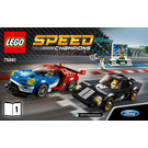 LEGO 2016 Ford GT & 1966 Ford GT40 Set 75881 Instructions