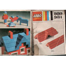 LEGO 23 sloping bricks, including roof peak bricks, Red Set 980