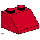 LEGO 2x2 Roof Tiles Steep Sloped Red Set 3496