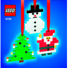 LEGO 3 Christmas Decorations Set 4759 Instructions