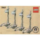 LEGO 4 Lighting Standards Electric 12V Set 7867 Instructions