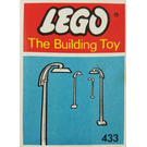 LEGO 6 Street Lamps with Curved Top (The Building Toy) Set 433