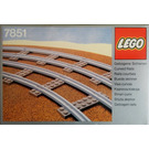LEGO 8 Curved Rails Grey 4.5 V Set 7851
