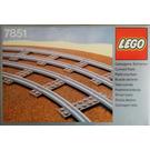 LEGO 8 Curved Rails Grey 4.5V Set 7851