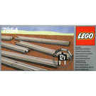 LEGO 8 Straight Electric Rails Grey 12 V Set 7854