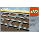 LEGO 8 Straight Rails Grey 4.5V Set 7850