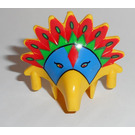 LEGO Achu Inca Helmet with Blue Mask and Red and Green Feathers Pattern (30276)