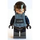LEGO ACU, Female, Light Flesh, Black Helmet, And Sand Blue Armor Minifigure