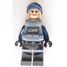 LEGO ACU Light Flesh, Dark Blue Cap, And Sand Blue Armor Minifigure