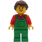 LEGO Advent Calendar Lady with Green Overalls Minifigure