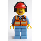 LEGO Airport worker with construction jacket Minifigure
