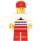 LEGO Airport Worker with Red Cap and Red Legs Minifigure