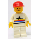 LEGO Airport Worker with Red Cap and White Legs Minifigure