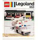 LEGO Ambulance and Helicopter Set 653 Instructions