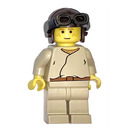 LEGO Anakin Skywalker with Brown Aviator Cap Minifigure